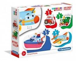 Moje Pierwsze Puzzle Środki Transportu 2/3/4/5 el. Clementoni 20811