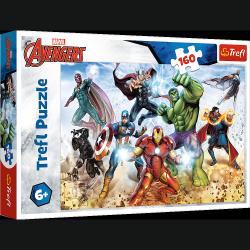 Puzzle Avengers Gotowi by ratować świat 160 el. Trefl 15368
