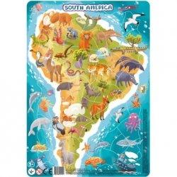 Puzzle Ramkowe Ameryka Południowa 53 el. Dodo 300178