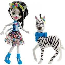 Lalka Zelena Zebra z zebrą Hoofette Enchantimals Mattel FKY75 FKY72
