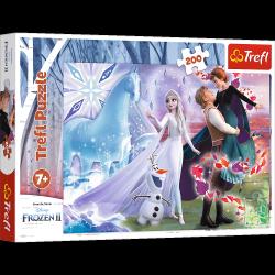 Puzzle Magiczny Świat Sióstr Frozen Kraina Lodu 200 el. Trefl 13265