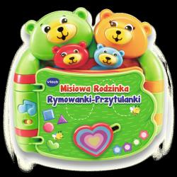 Książka Interaktywna Misiowa Rodzinka Rymowanki Przytulanki Vtech 60993