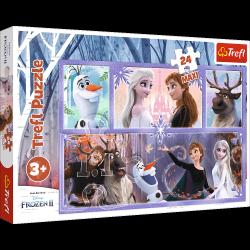 Puzzle Maxi Świat Pełen Magii Frozen 2 Kraina Lodu 2 24 el. Trefl 14345