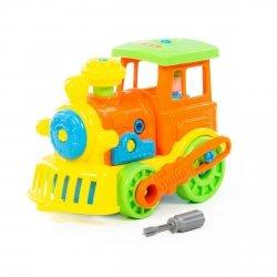 Klocki transport Lokomotywa z śrubokrętem Polesie 71255