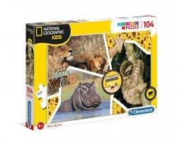 Puzzle Dzikie Zwierzęta 104 el. Clementoni 27143