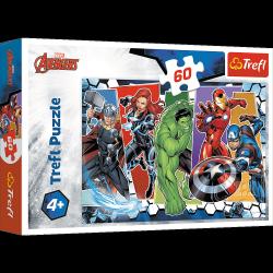 Puzzle Niezwyciężeni Avengersi 60 el. The Avengers Trefl 17357