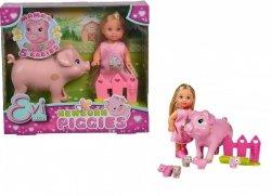 Lalka Evi z ciężarną świnką Simba 5733337