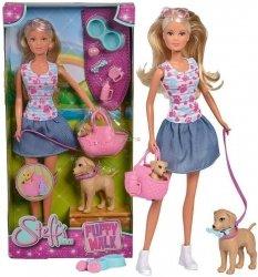 Lalka Steffi na spacerze z psami Simba 5733310