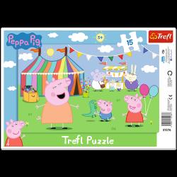 Puzzle Ramkowe W Wesołym Miasteczku 15 el. Świnka Peppa Trefl 31276