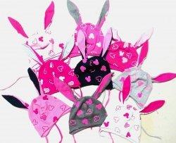 Czapka wiosenna z uszkami dla dziewczynki r. 44