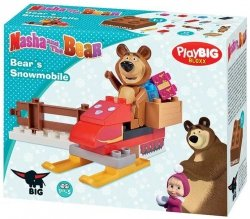 Klocki Masza i Niedźwiedź Skuter Śnieżny BIG 57101