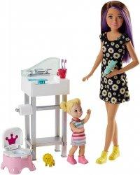 Lalka Skipper Opiekunka z toaletą Barbie Mattel FJB01 FHY97