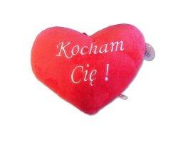 Pluszowe Serce Poduszka Kocham Cię 36x30 cm Duże Walentynki