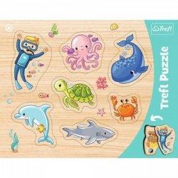 Puzzle Podwodny świat Ramkowe 8 el. Trefl 31309