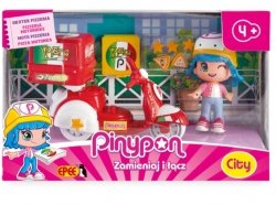 PinyPon City Pizzeria Skuter z Laleczką 8 cm i Akcesoriami Epee