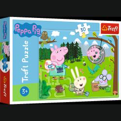Puzzle Świnka Peppa Leśna wyprawa 30 el. Trefl 18245