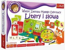 Gra Litery i słowa Wielki Zestaw Małego Odkrywcy Trefl 01129