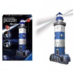 Puzzle 3D Latarnia nocą LED świecą 216 el. Ravensburger 125777