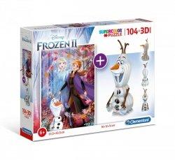 Puzzle Frozen 2 Kraina Lodu 2 104 el. + Model 3D Clementoni 20170