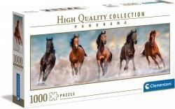 Puzzle Panoramiczne Galopujące Konie 1000 el. Clementoni 39607