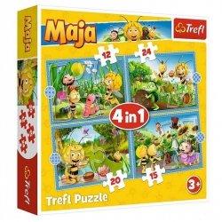 Puzzle 4w1 Przygody Pszczółki Mai 35/48/54/70 el. Trefl 34356