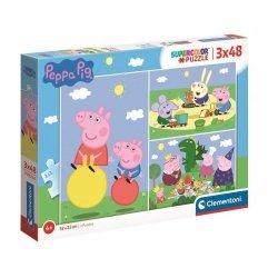 Puzzle Świnka Peppa 3x48 el. Clementoni 25263