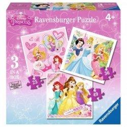 Puzzle Księżniczki 3w1 Ravensburger 072286
