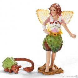 Elfka kasztanowa z towarzyszem Figurka Schleich 70454