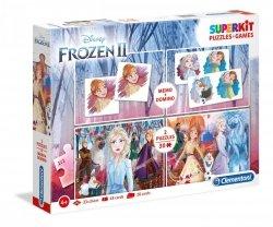 Puzzle 4w1 Frozen 2 Kraina Lodu 2 2x30 el + Memo i Domino Clementoni 20241