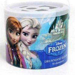 Klocki drewniane Frozen Kraina Lodu 50 el. Playme 57104