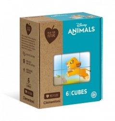 Puzzle Klockowe Zwierzątka Disneya 6 el. Clementoni 44004