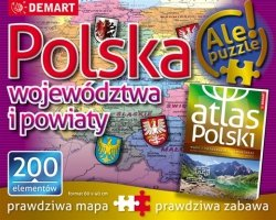 Puzzle Mapa administracyjna Polski 200 el. Demart 12226