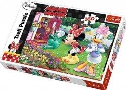 Puzzle Myszka Minnie Podlewanie kwiatków 160 el. Trefl 15328