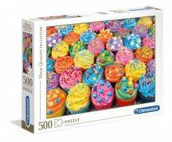 Puzzle Kolorowe Babeczki 500 el. Clementoni 35057