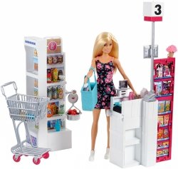 Lalka Barbie Supermarket Zestaw Mattel FRP01