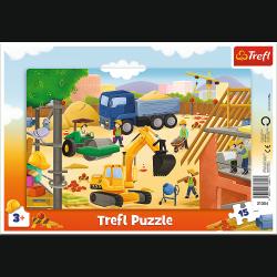 Puzzle Ramkowe Na Budowie 15 el. Trefl 31354