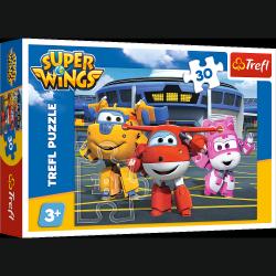 Puzzle Przyjaciele Przed Hangarem Super Wings 30 el. Trefl 18226