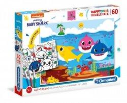 Puzzle Dwustronne Baby Shark 60 el. Clementoni 26093
