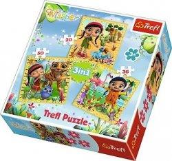 Puzzle Wissper Wspólne podróże 3w1 Trefl 34834