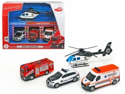 Zestaw pojazdów SOS w garażu Dickie 3715002