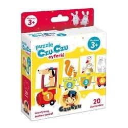 Puzzle Cyferki Pociąg 20 el. CzuCzu 49004