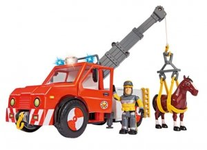 Strażak Sam Wóz strażacki Phoenix z figurką i koniem Dickie 9258280