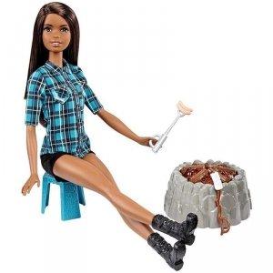 Barbie na biwaku Lalka Mattel FDB43