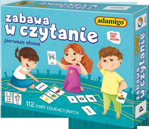 Karty Edukacyjne Zabawa w Czytanie 112 el. Adamigo 00752
