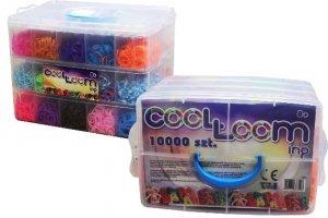 Gumki do bransoletek z atestem duży zestaw w kuferku 10 tys. szt.! TM Toys 2435