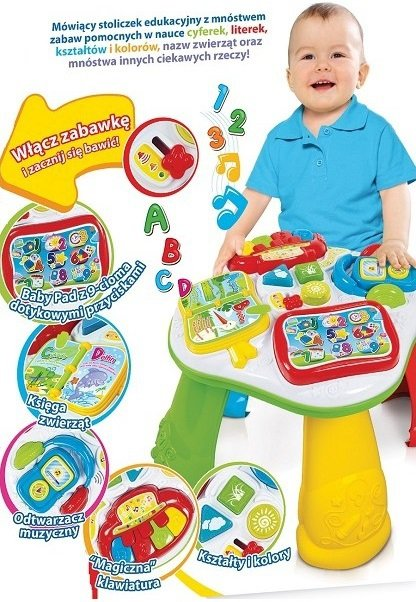 stolik edukacyjny Zabawki Clementoni