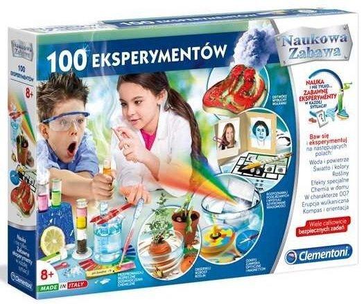zestaw doświadczalny 100 eksperymentów clementoni 50522
