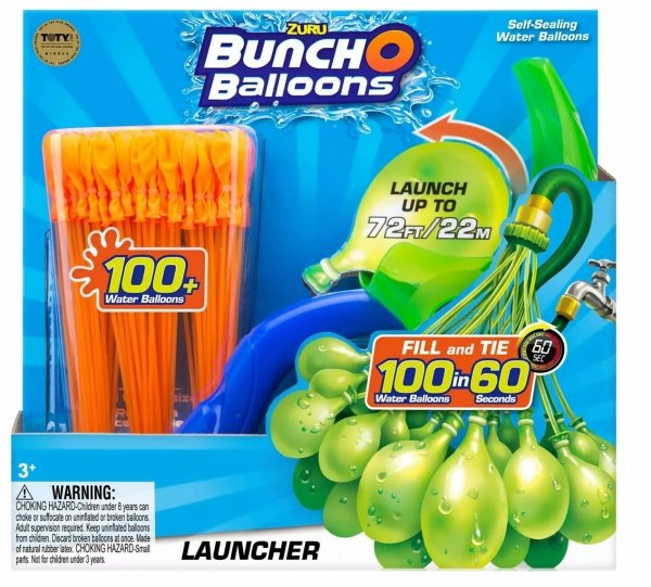 Balony wodne zielone niebieskie pomarańczowe