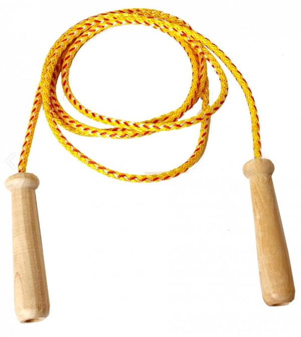 Skakanka Sznurkowa z Drewnianą Rączką 228 cm