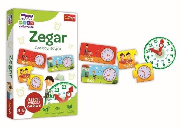 Gra Edukacyjna Zegar Mały Odkrywca Trefl 01948